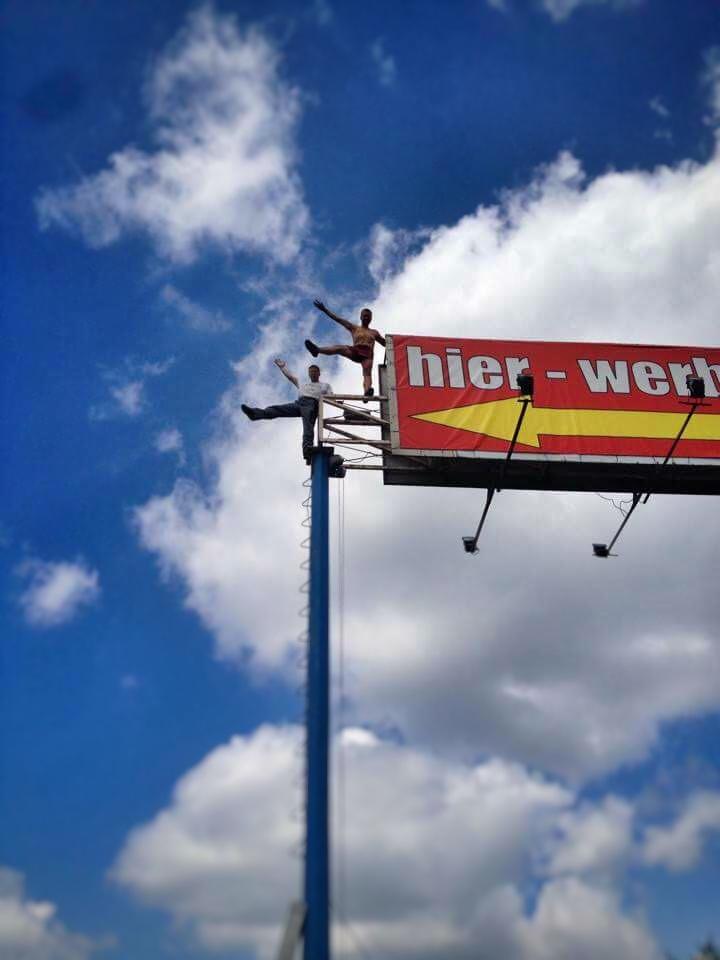 nach der Montage des www.Hier-werben.at Banners