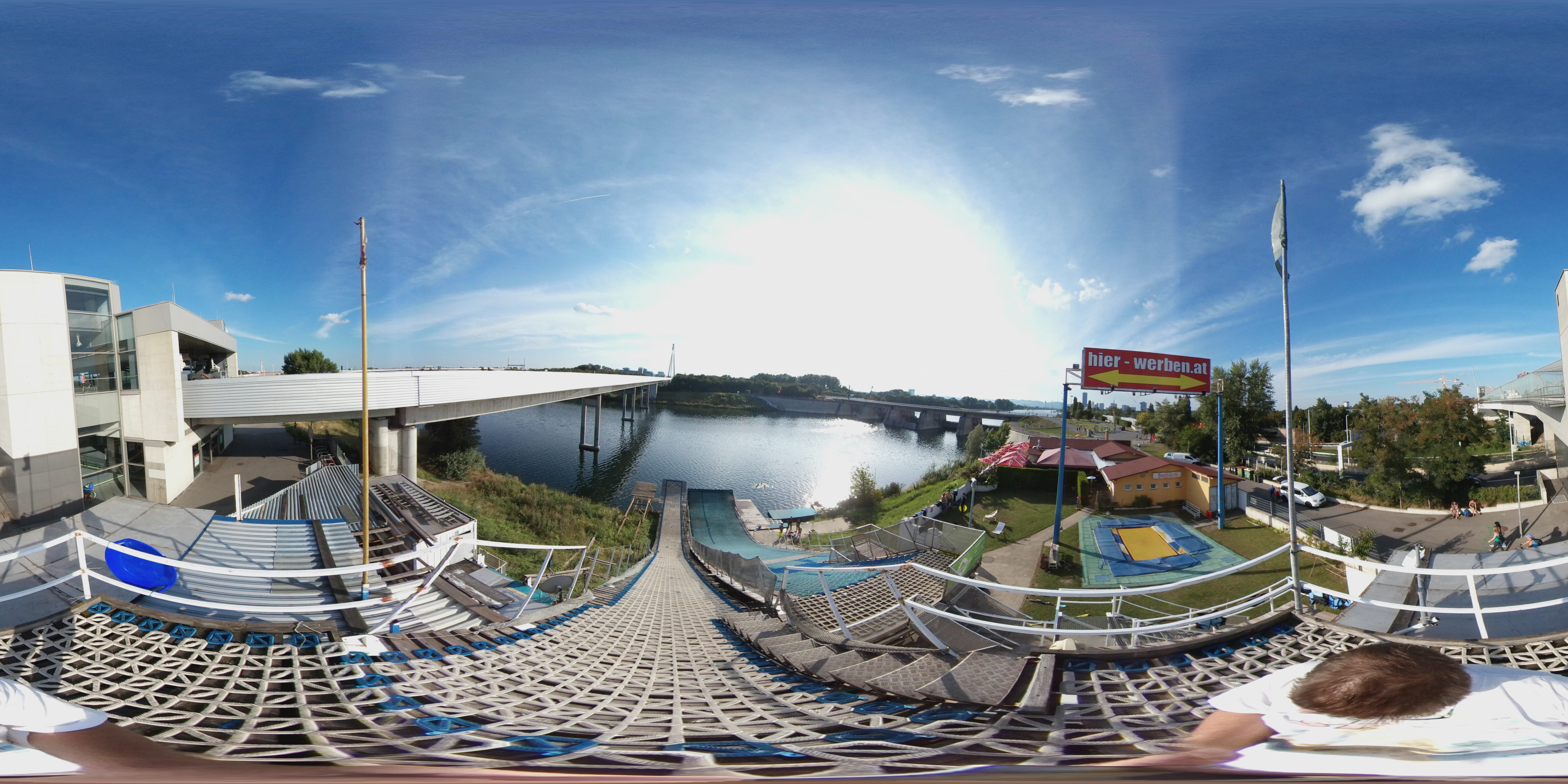 360° Panorama am Start der Grossen Schanze